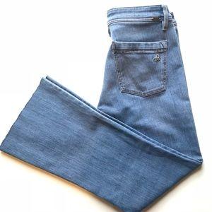 DL1961 // Joy Cropped Flare Jeans Raw Hem